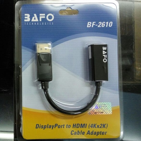 BAFO BF-2610 DISPLAY PORT TO HDMI 4K