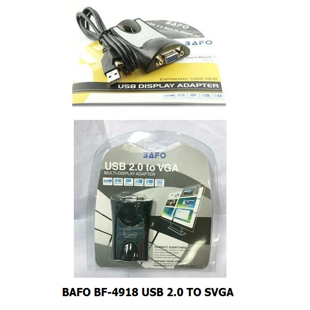 BAFO BF-4918 USB 2.0 TO SVGA