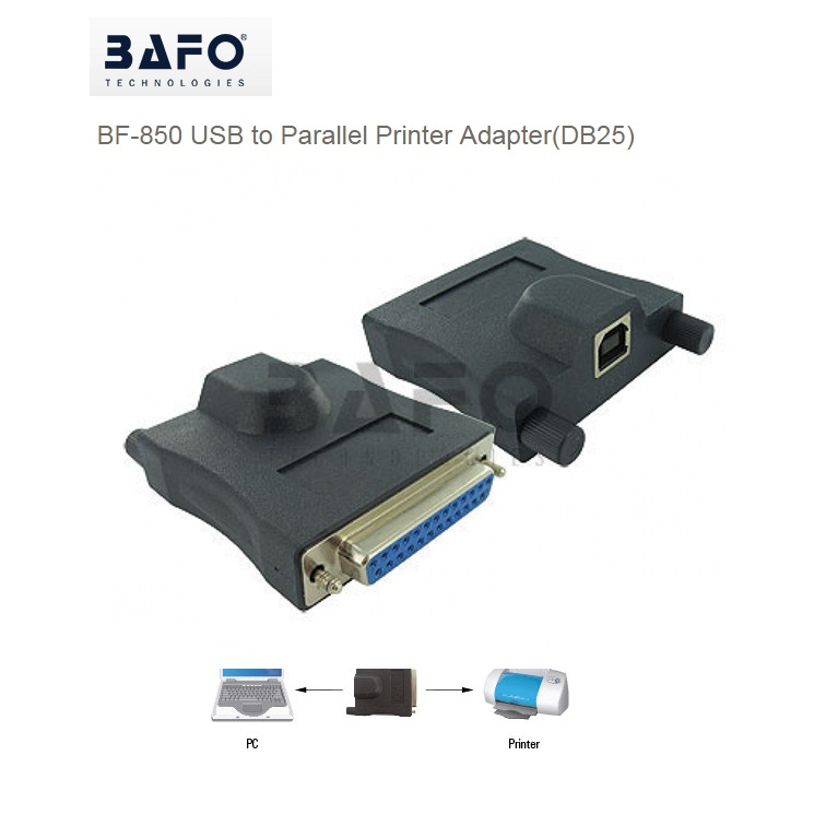 BAFO BF-850 USB TO PARALLEL PRINTER ADAPTER DB25 FEMALE