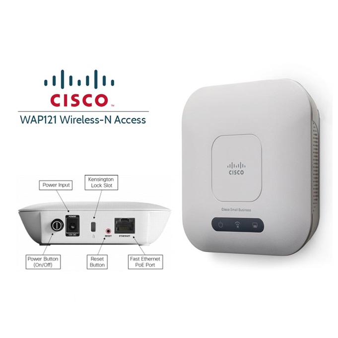 CISCO WAP121-E-K9-G5 WIRELESS-N ACCESSPOINT POE
