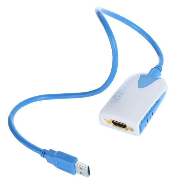 USB3.0 to HDMI MALE FEMALE 50 cm (bisa u USB2.0)