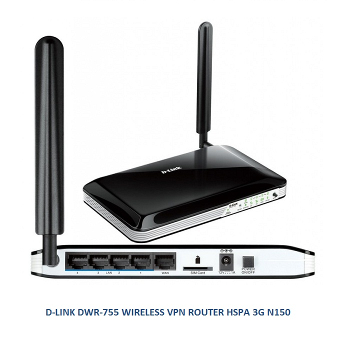 D-LINK DWR-755 WIRELESS VPN ROUTER HSPA 3G N150