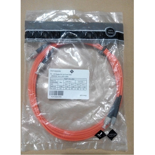 KABEL FIBER OPTIC MULTIMODE DUPLEX FC-FC