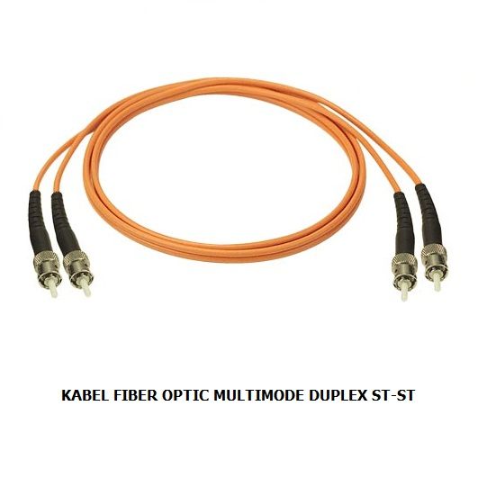KABEL FIBER OPTIC MULTIMODE DUPLEX ST-ST