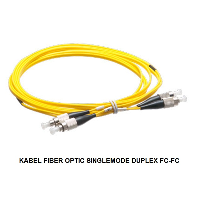 KABEL FIBER OPTIC SINGLEMODE DUPLEX FC-FC