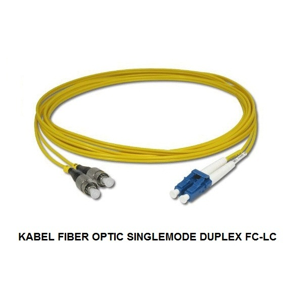 KABEL FIBER OPTIC SINGLEMODE DUPLEX FC-LC