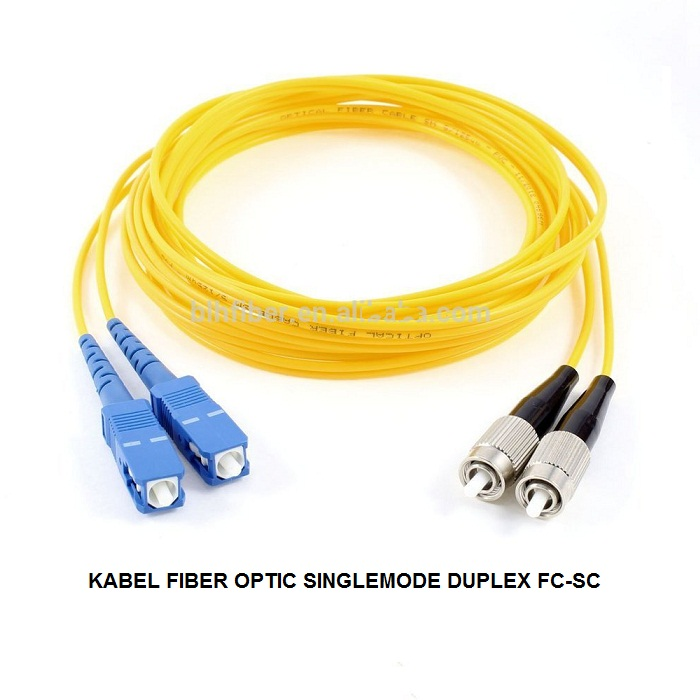 KABEL FIBER OPTIC SINGLEMODE DUPLEX FC-SC