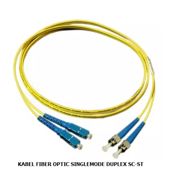 KABEL FIBER OPTIC SINGLEMODE DUPLEX SC-ST