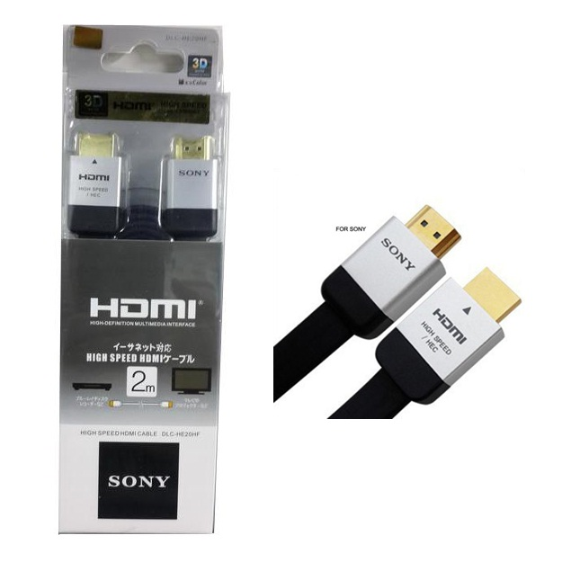 KABEL HDMI FLAT 3D HIGH SPEED WITH ETHERNET SONY 2M