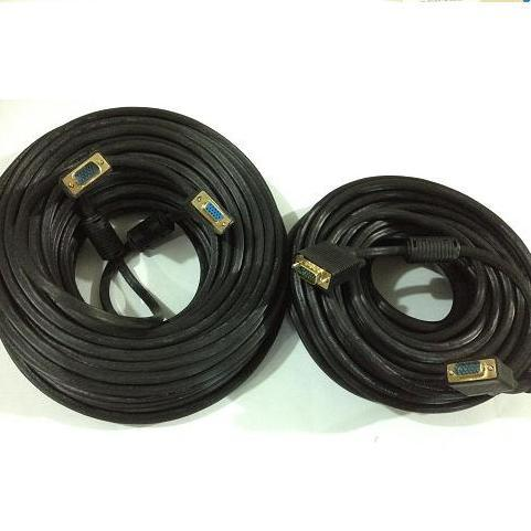 KABEL VGA 15 pin 3+4+2 ferrit Gold Plated Head 30M