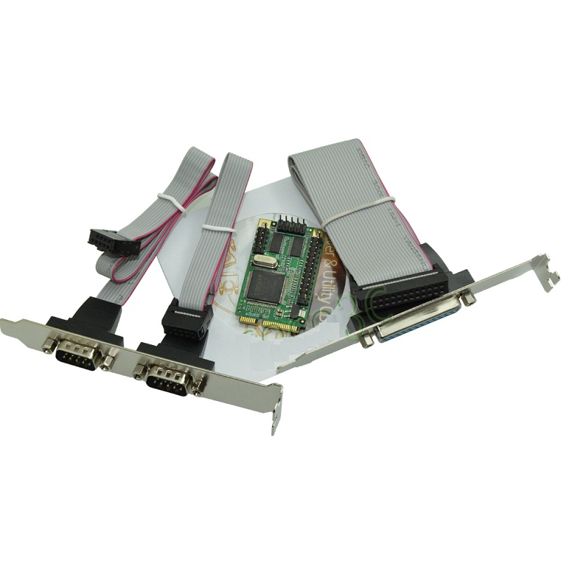 MINI PCI EXPRESS 2 SERIAL RS232 + 1 PARALLEL FOR NOTEBOOK