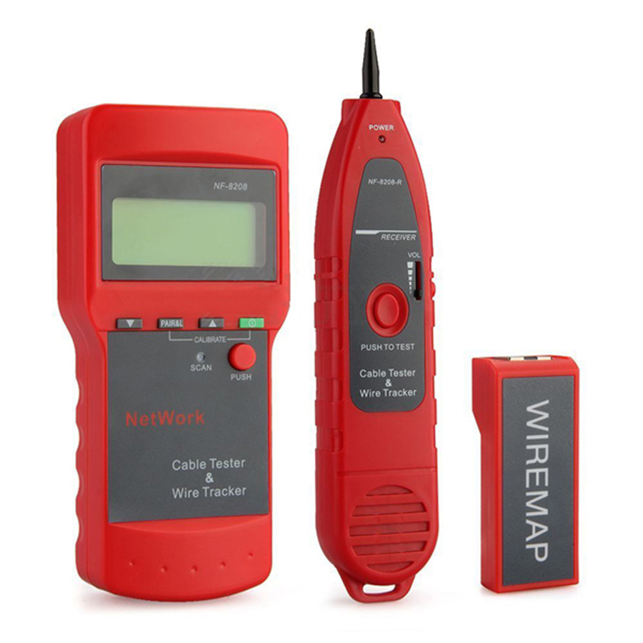 NF-8208 LCD DISPLAY NETWORK CABLE TESTER WIRE TRACKER TRACER LENGTH