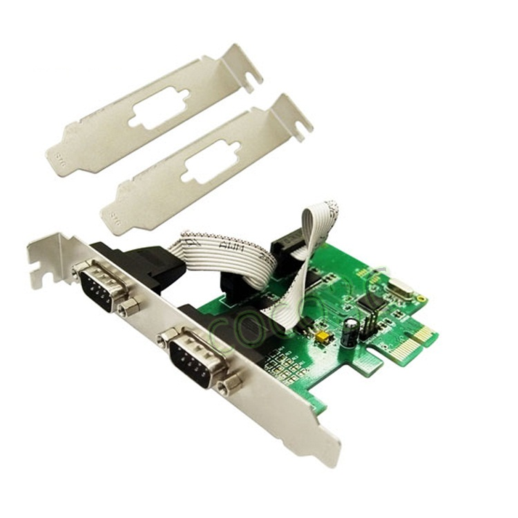 Serial 2 port PCI-E (RS232 2port 9p M) w MINI BRACKET